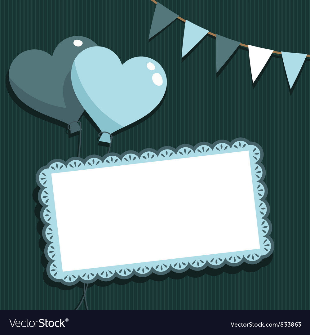 Blue party card vector | Price: 1 Credit (USD $1)
