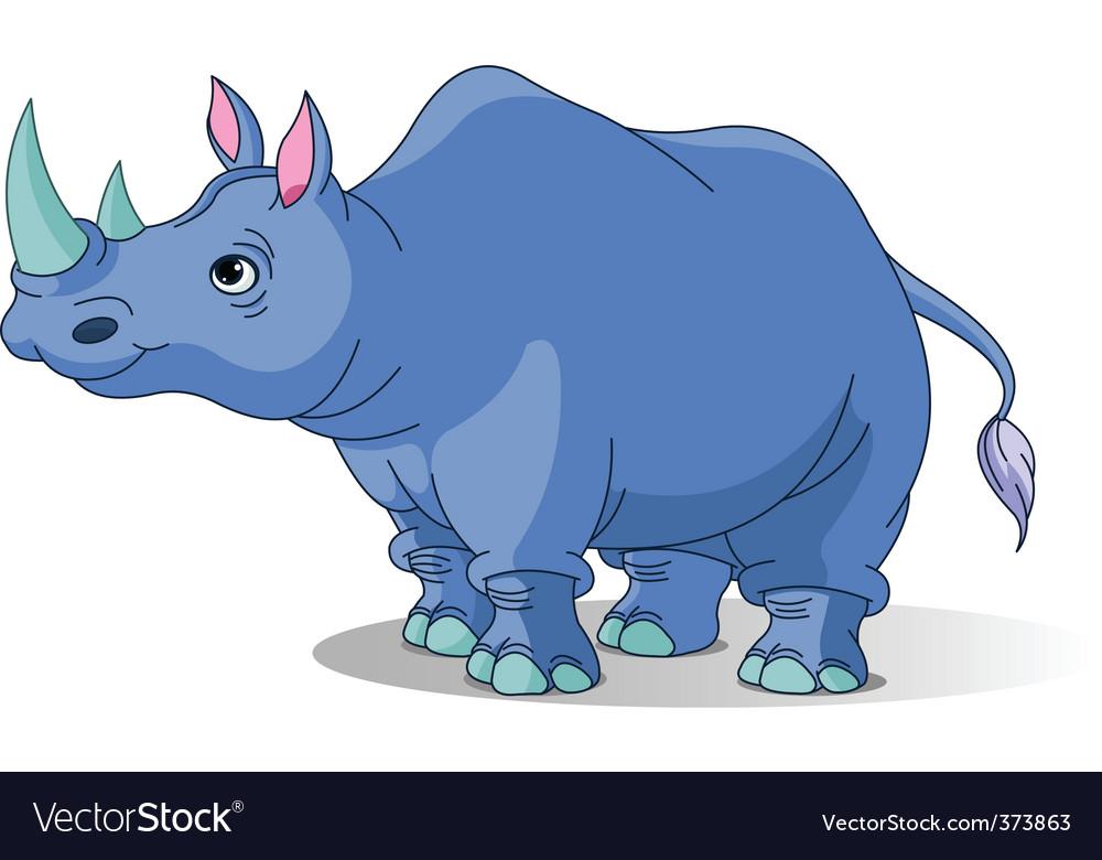 Cartoon rhino vector | Price: 3 Credit (USD $3)