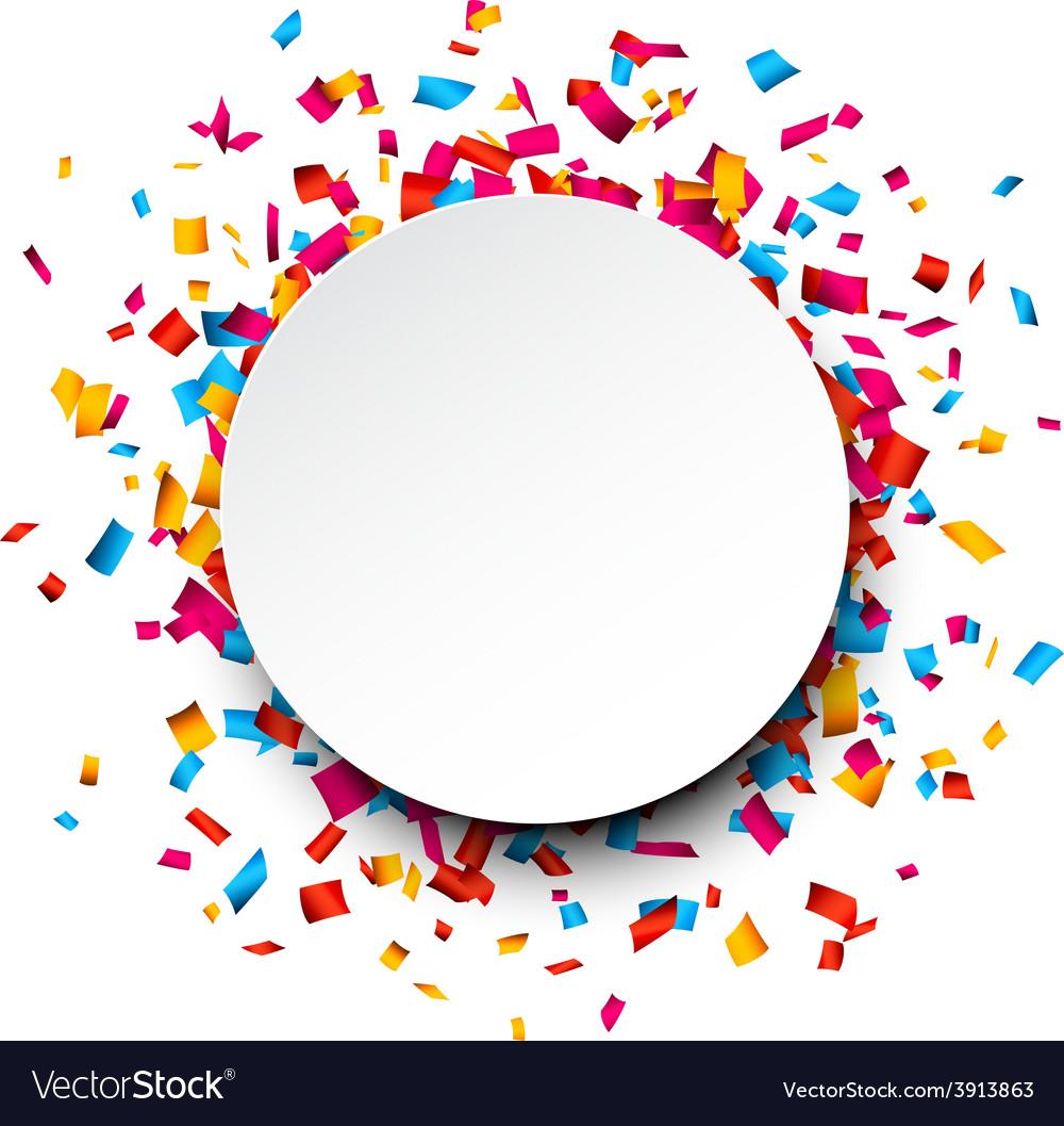 Confetti celebration background vector | Price: 1 Credit (USD $1)