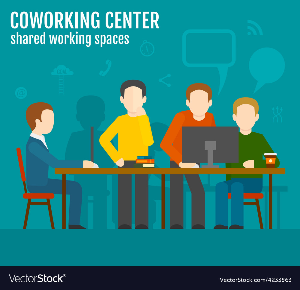 Coworking center concept vector | Price: 1 Credit (USD $1)