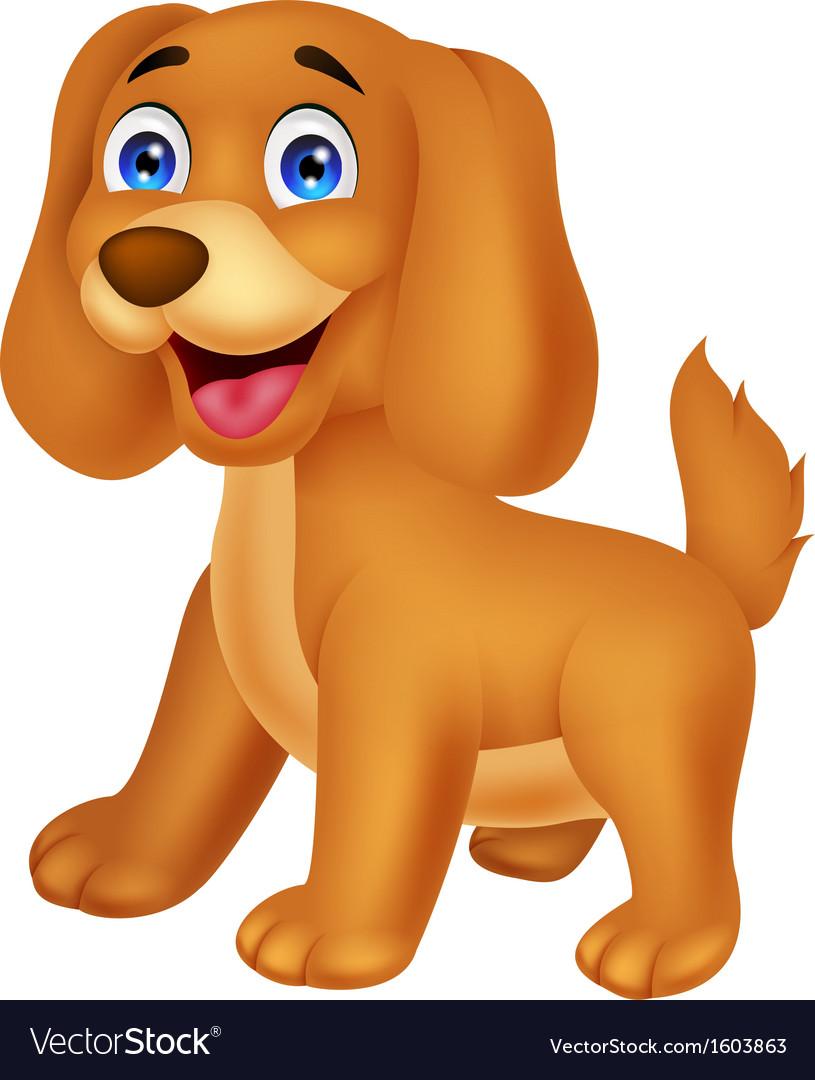 Cute puppy cartoon vector | Price: 1 Credit (USD $1)