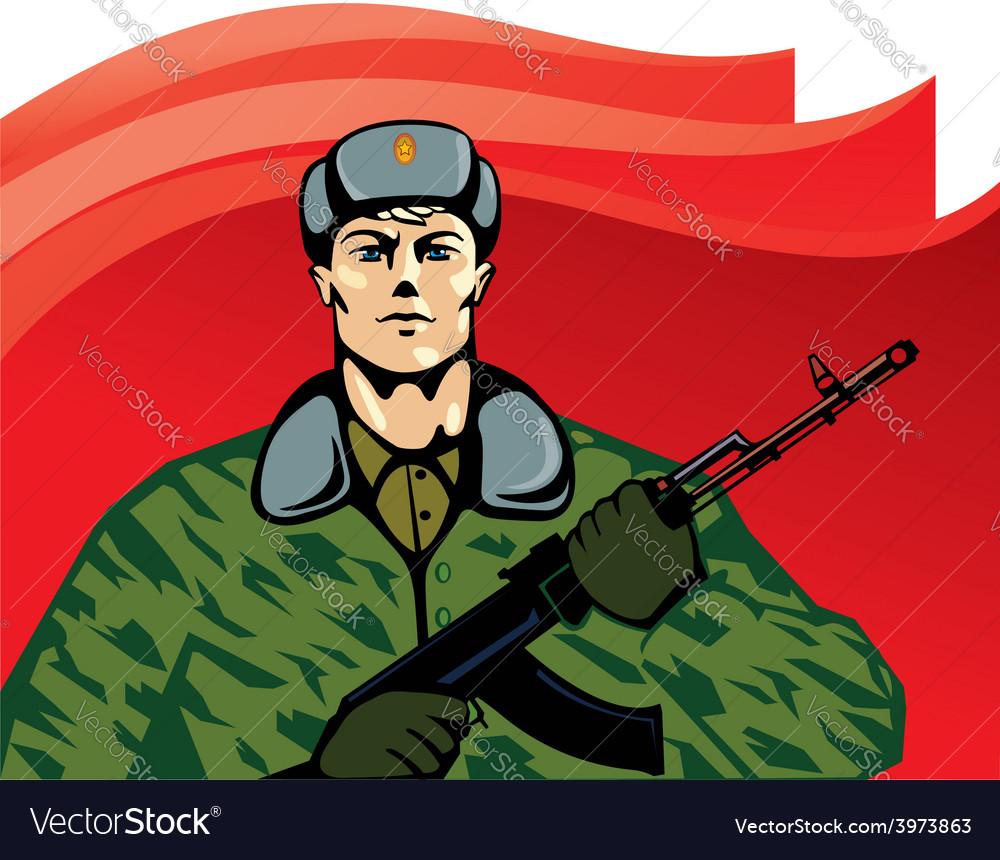 Russian soldier cartoon vector   Price: 3 Credit (USD $3)