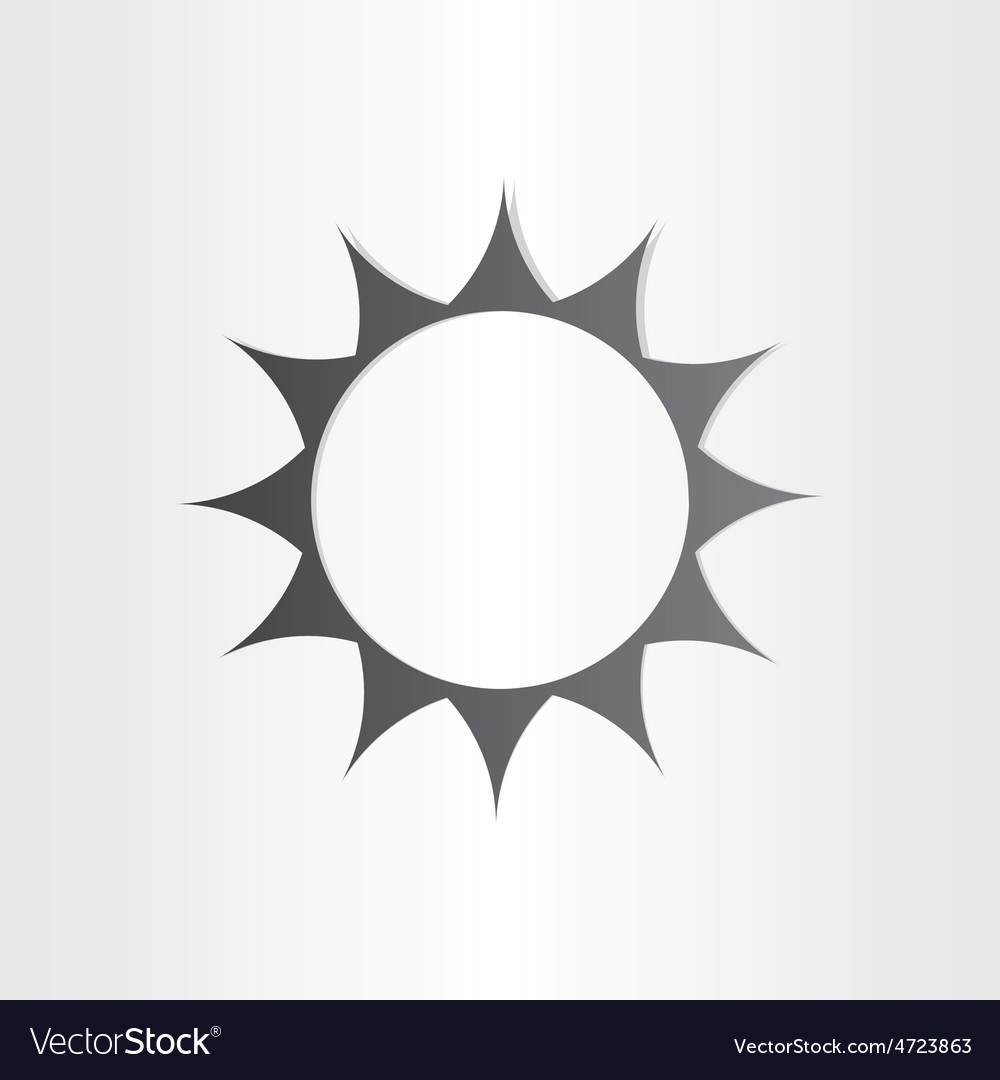 Stylized sun rays summer icon vector | Price: 1 Credit (USD $1)