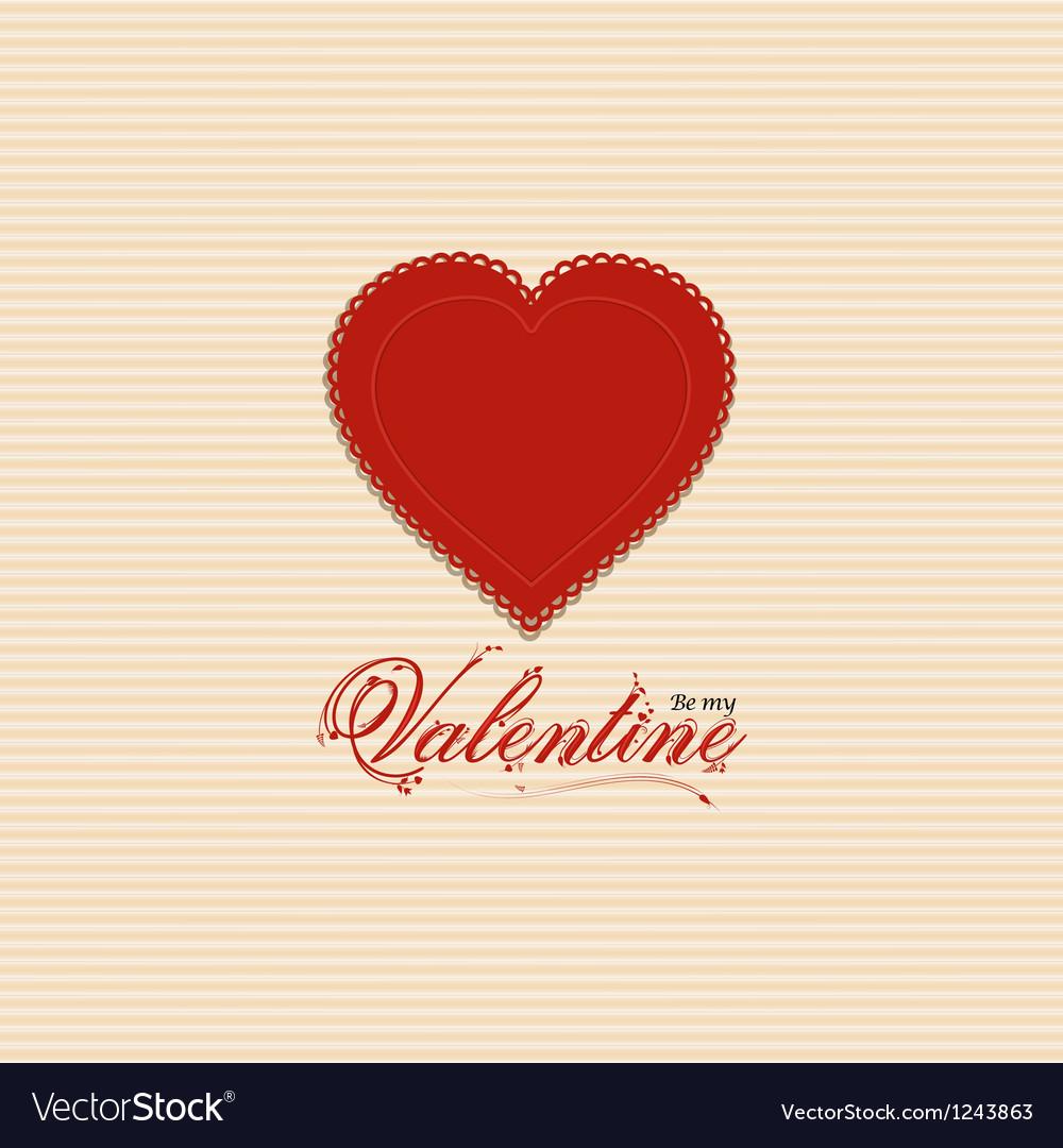 Valentine heart background with valentine message vector | Price: 1 Credit (USD $1)