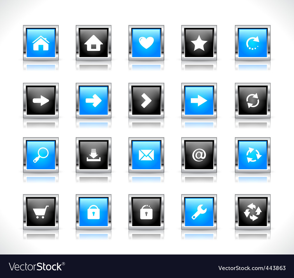 Web design buttons vector | Price: 1 Credit (USD $1)