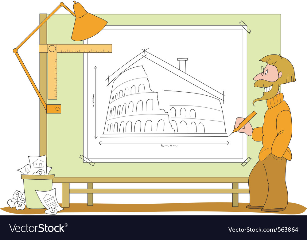 Architect plan vector | Price: 1 Credit (USD $1)