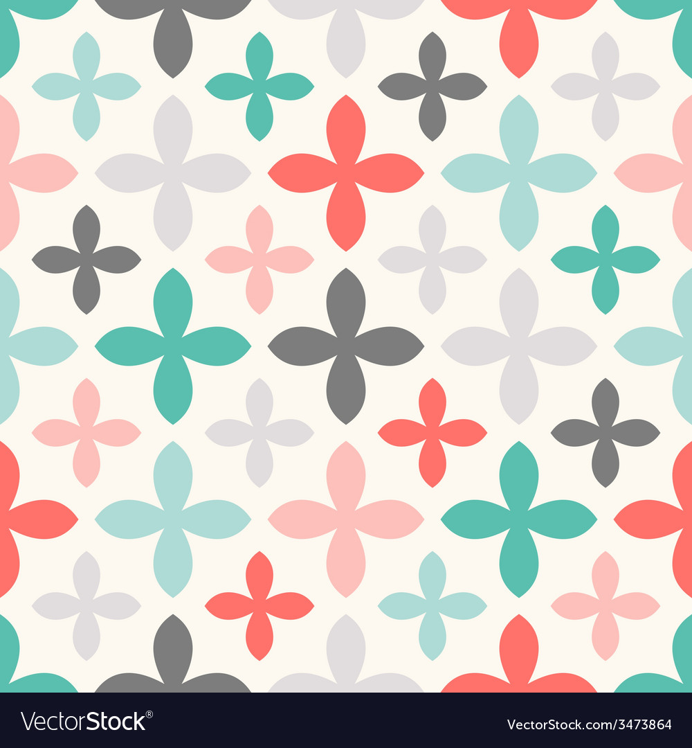 Floral seamless pattern endless texture vector | Price: 1 Credit (USD $1)