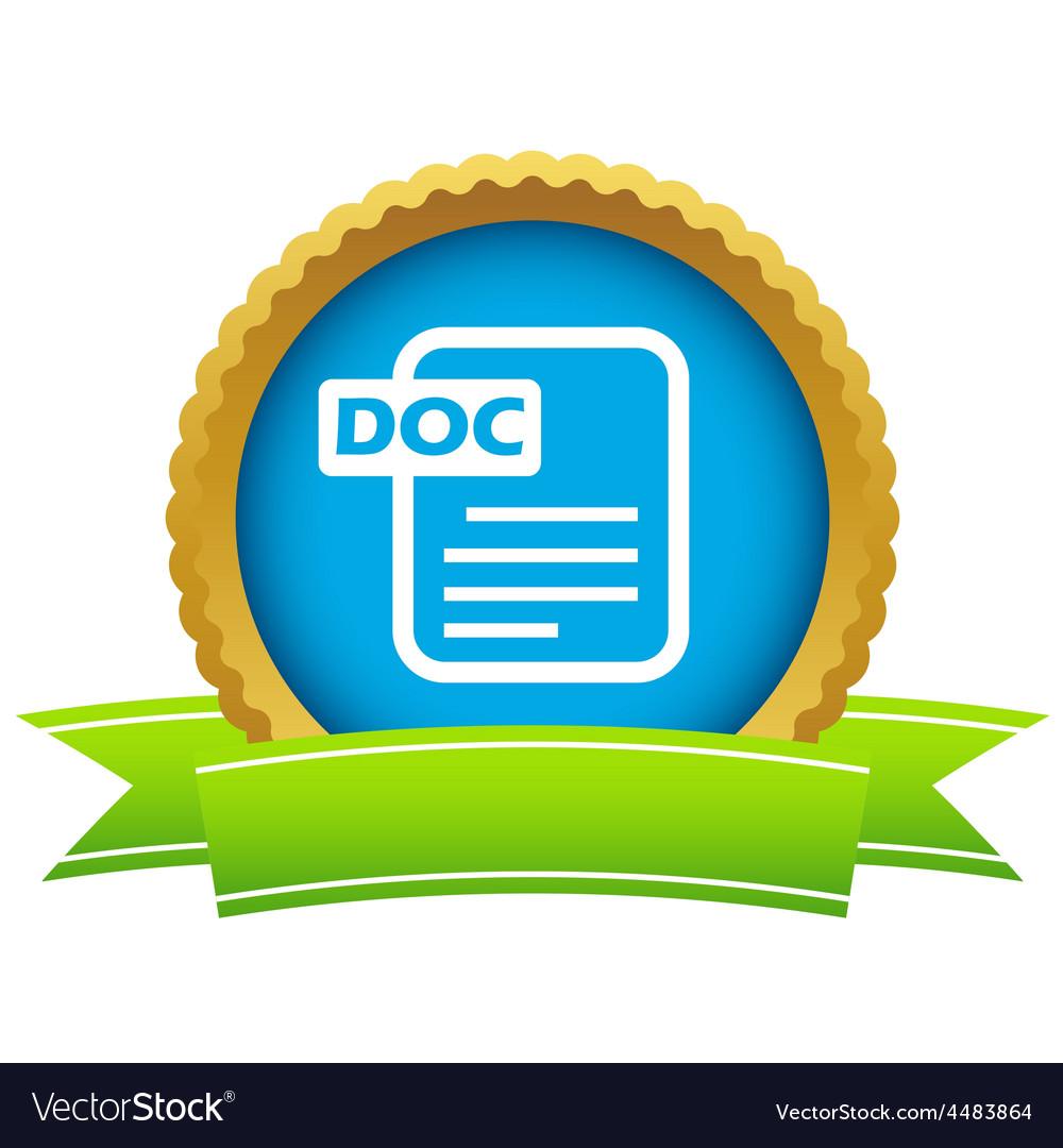 Gold doc logo vector | Price: 1 Credit (USD $1)