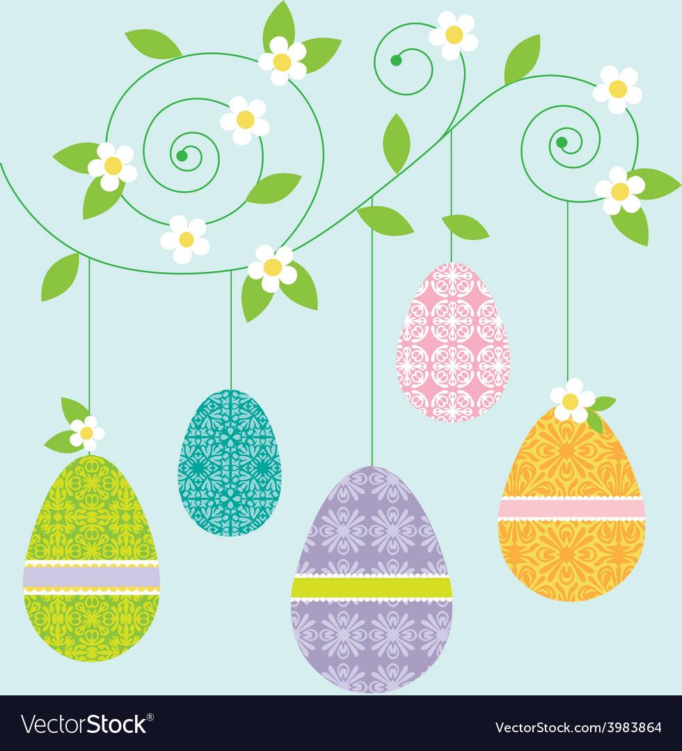 Hanging eggs vector | Price: 1 Credit (USD $1)