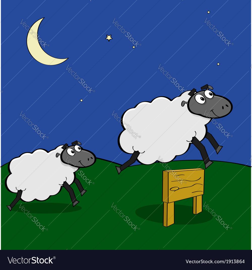 Jumping sheep vector | Price: 1 Credit (USD $1)