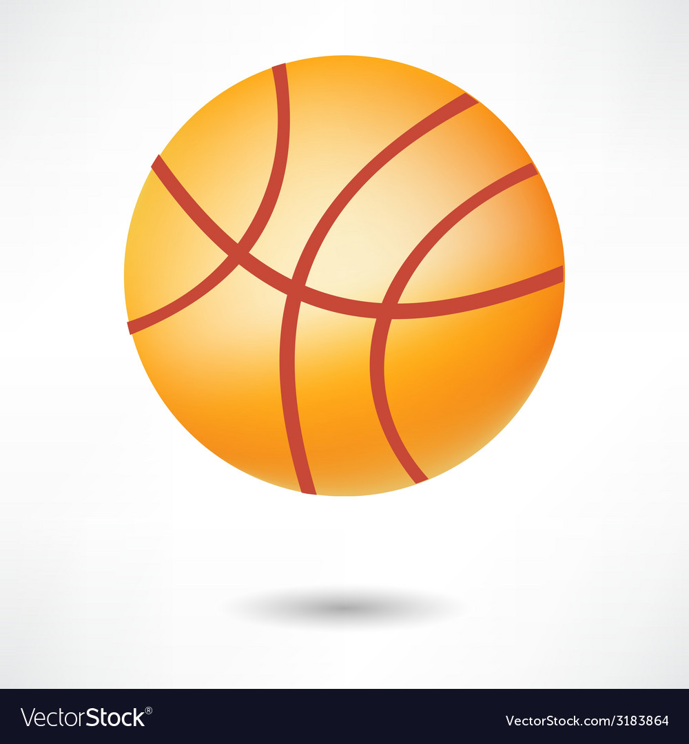 Realistic basketball ball isolated on white vector | Price: 1 Credit (USD $1)