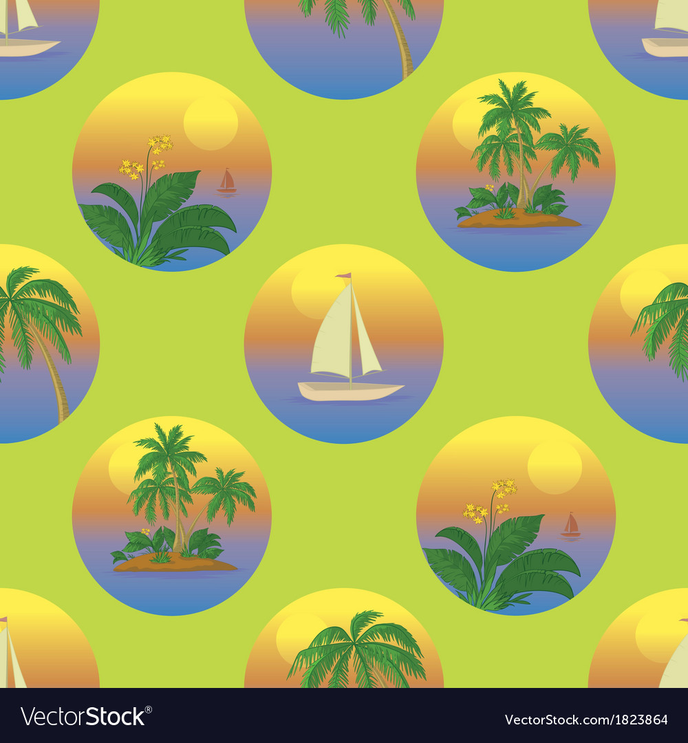 Seamless tropical background vector | Price: 1 Credit (USD $1)