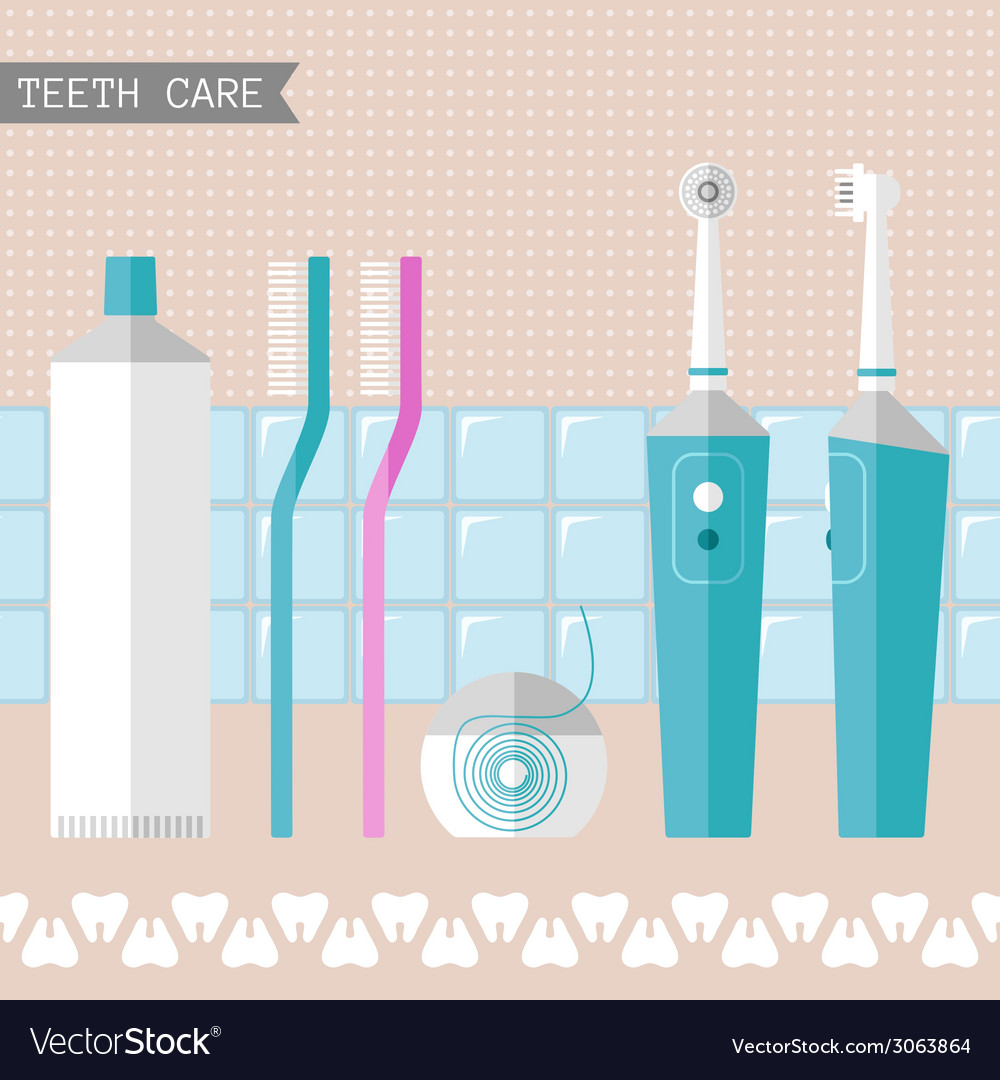 Set of teeth care icons vector | Price: 1 Credit (USD $1)