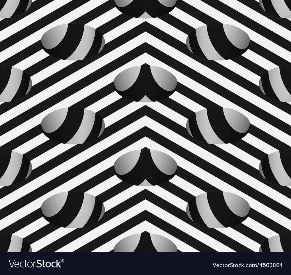 Striped 3d hemisphere pit hole seamless pattern vector | Price: 1 Credit (USD $1)