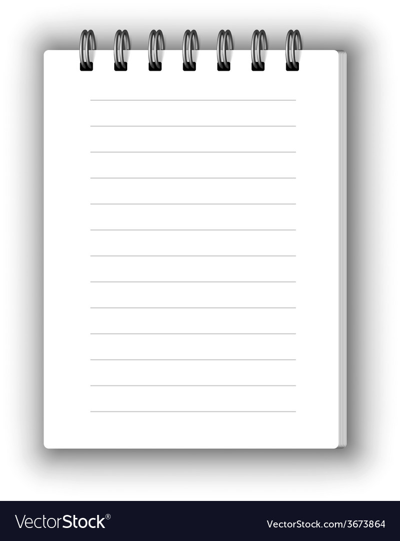 Vertical notebook vector | Price: 1 Credit (USD $1)