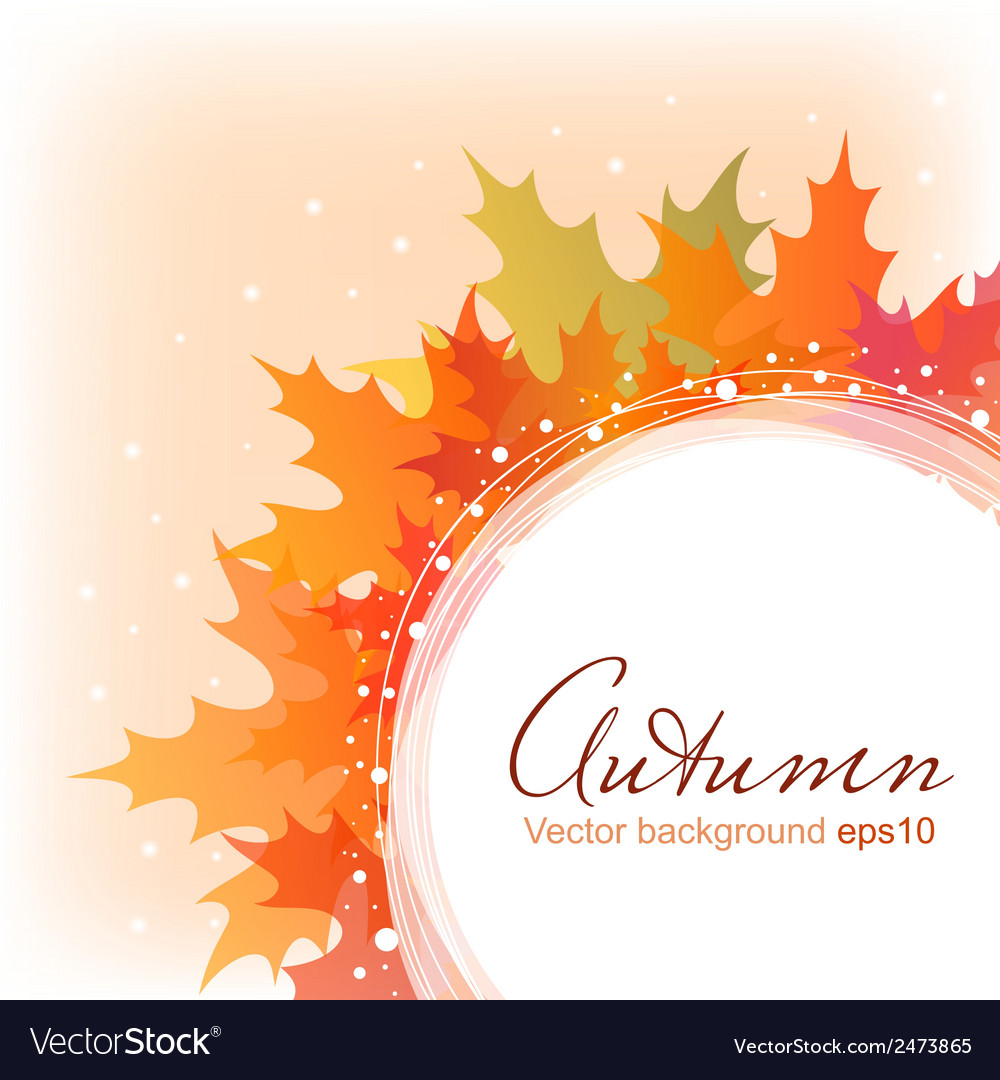 Abstract autumn leaves background eps10 vector | Price: 1 Credit (USD $1)