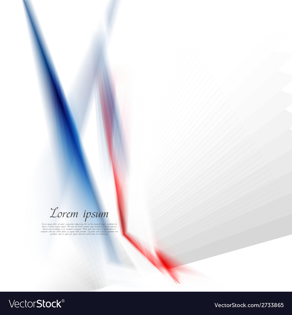 Abstract concept hi-tech blue red stripes vector | Price: 1 Credit (USD $1)