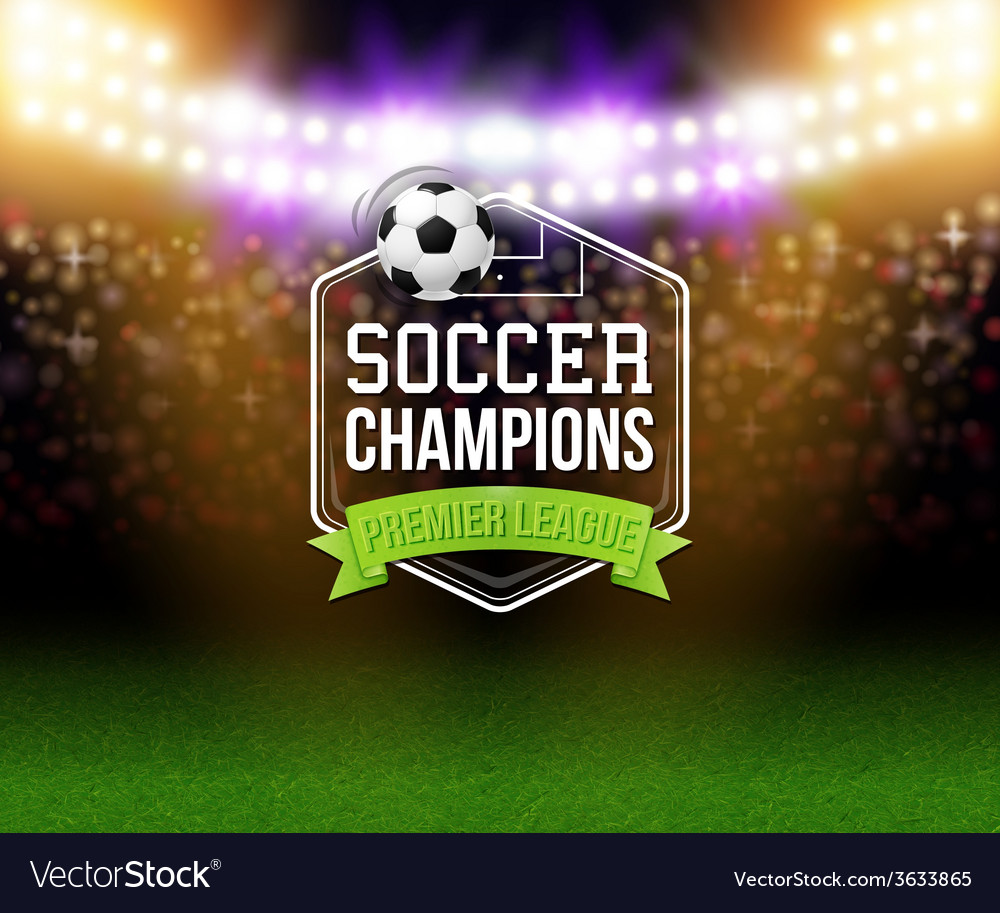 Abstract soccer football poster stadium background vector | Price: 1 Credit (USD $1)