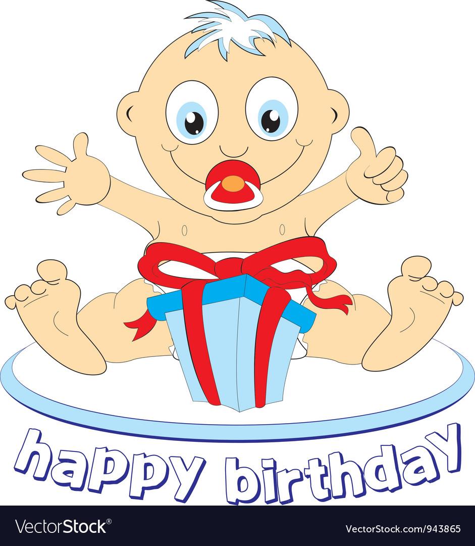 Baby birthday vector | Price: 1 Credit (USD $1)