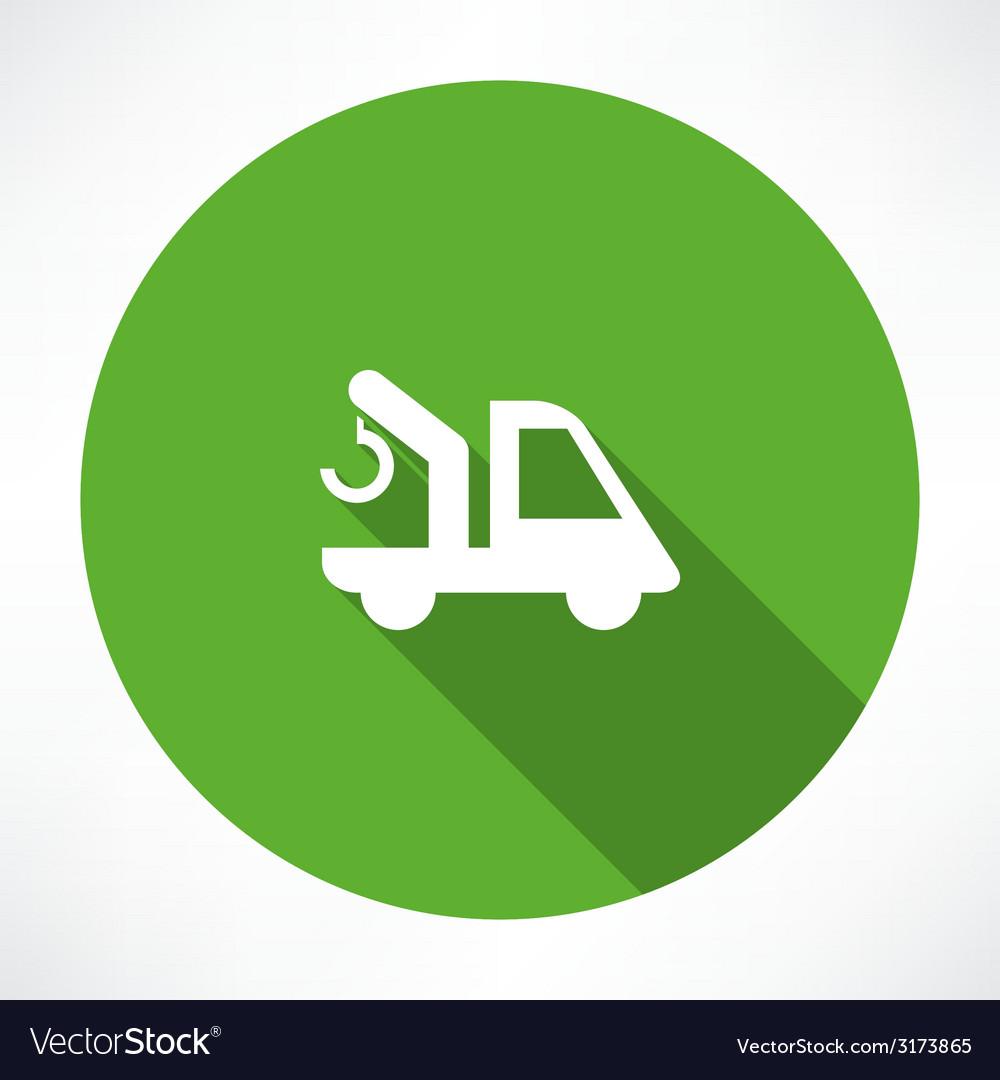 Car with a crane icon vector | Price: 1 Credit (USD $1)