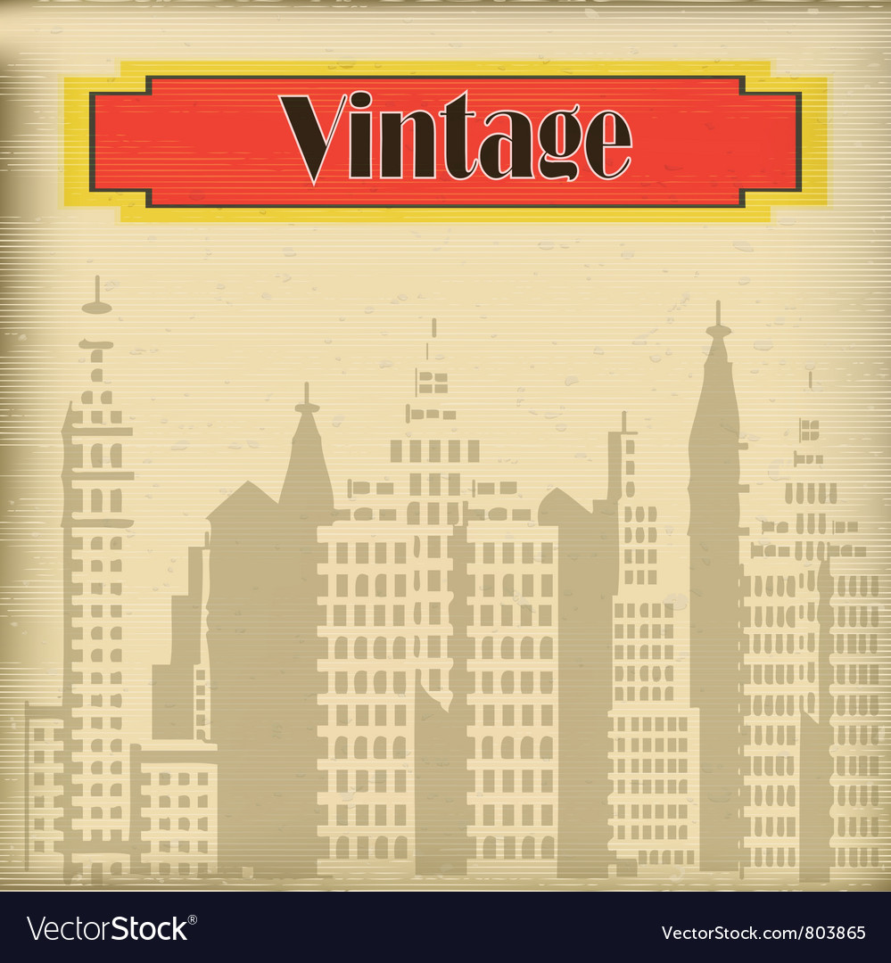 Faded city vector | Price: 1 Credit (USD $1)