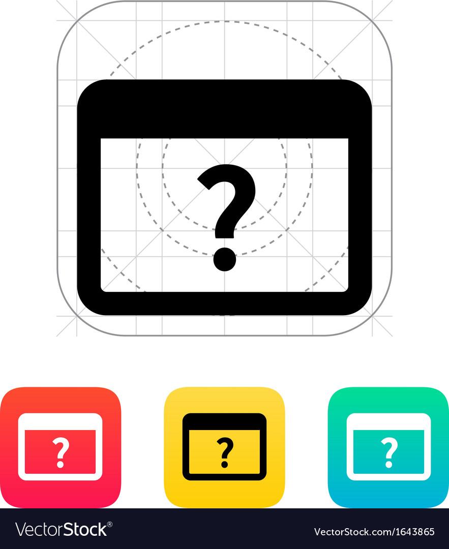 Faq application icon vector   Price: 1 Credit (USD $1)