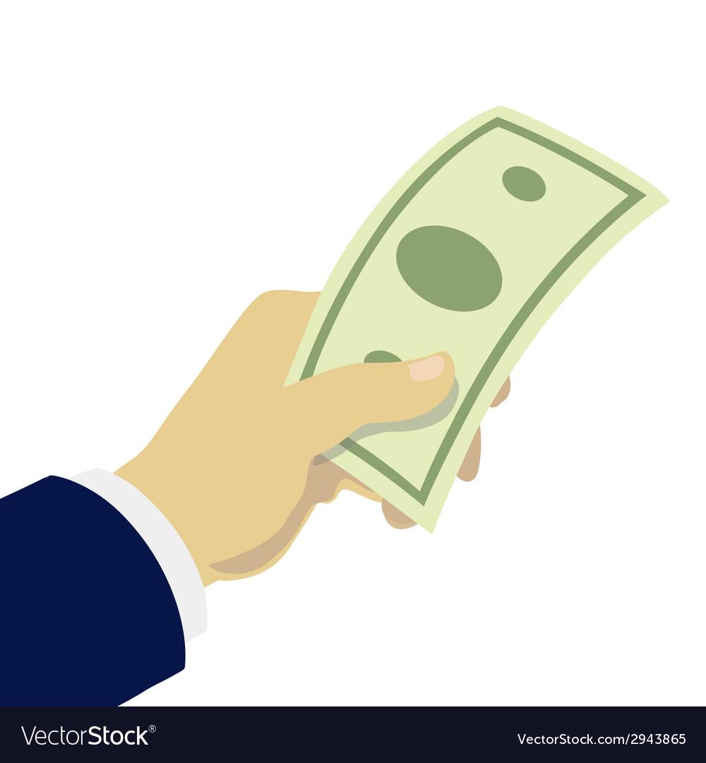 Hand giving money vector   Price: 1 Credit (USD $1)