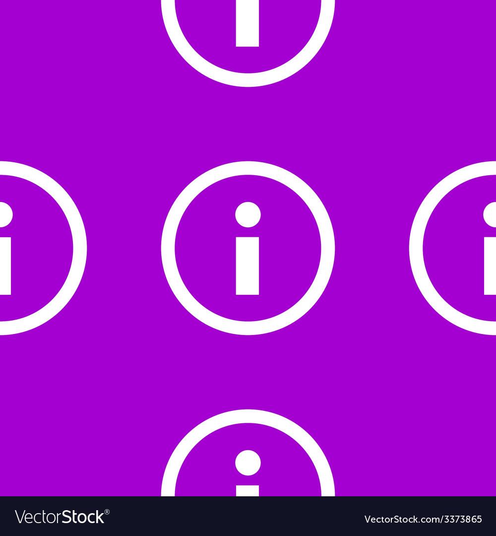Info web icon flat design seamless pattern vector   Price: 1 Credit (USD $1)
