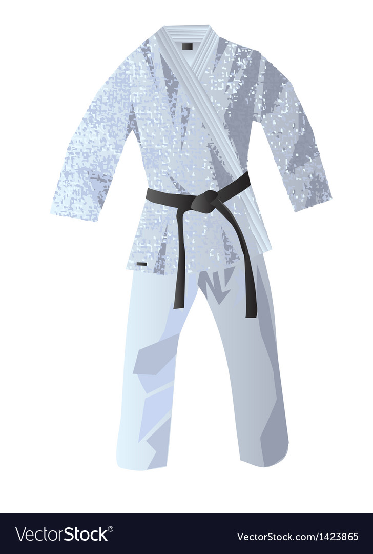 Kimono for judo vector | Price: 1 Credit (USD $1)