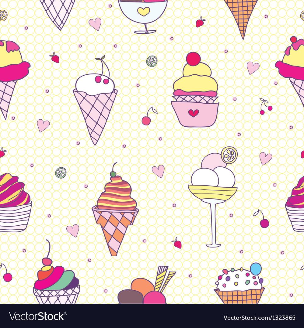 Pattern ice cream vector | Price: 1 Credit (USD $1)