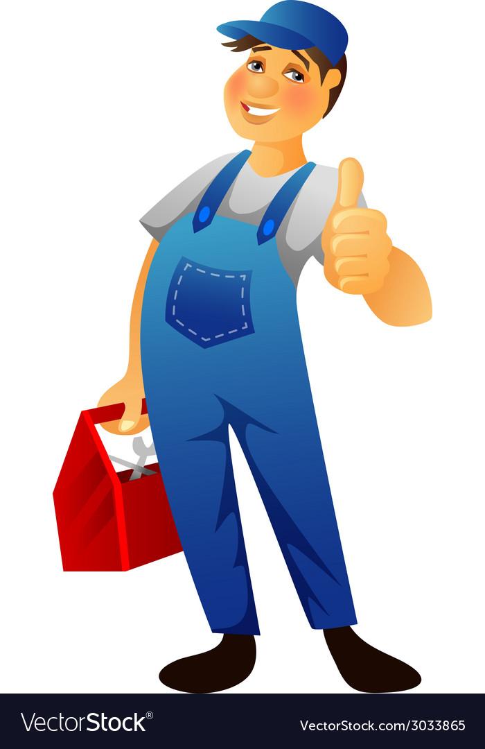 Plumber man vector | Price: 1 Credit (USD $1)