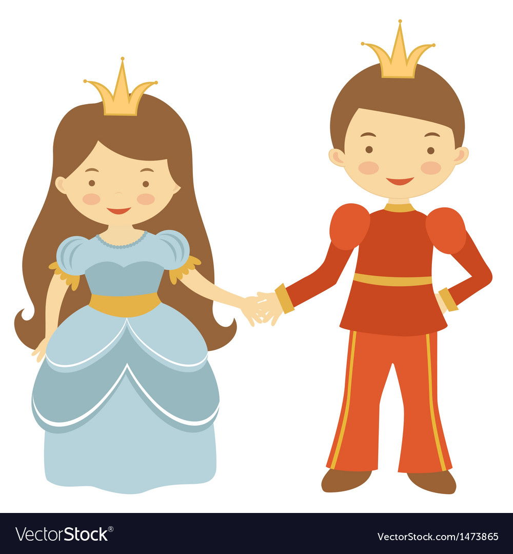 Prince and princess vector | Price: 1 Credit (USD $1)