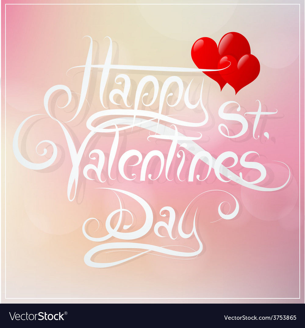 St valentines day greeting card design vector | Price: 1 Credit (USD $1)