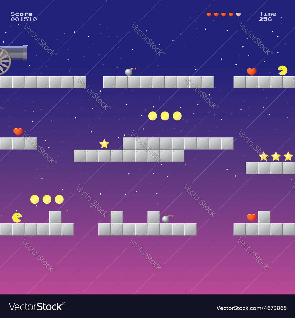 Video game location arcade games vector | Price: 1 Credit (USD $1)