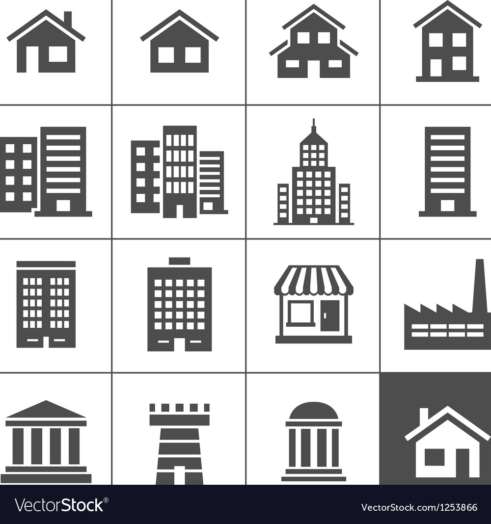 Buildings icons vector | Price: 1 Credit (USD $1)