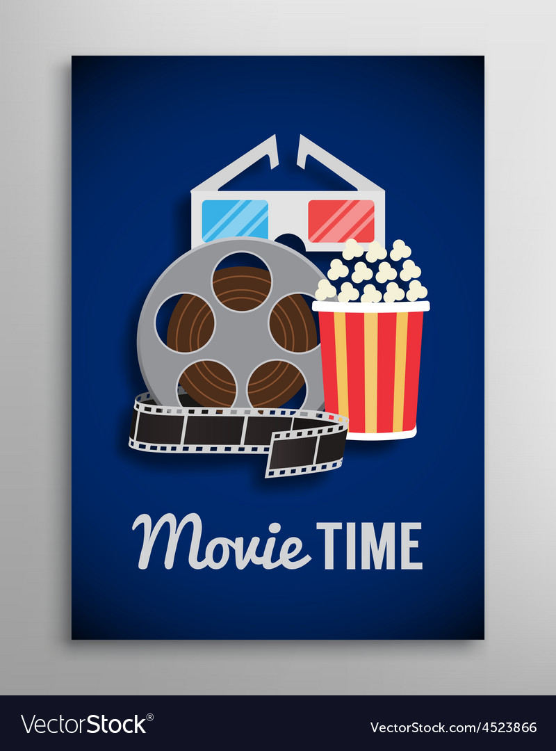 Cinema flyer movie trailer advertisement vector | Price: 1 Credit (USD $1)