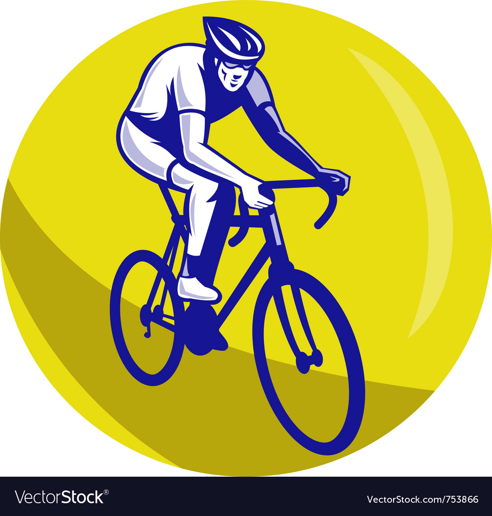 Cyclist riding racing bike vector | Price: 1 Credit (USD $1)