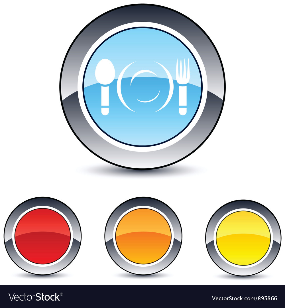 Dinner round button vector | Price: 1 Credit (USD $1)
