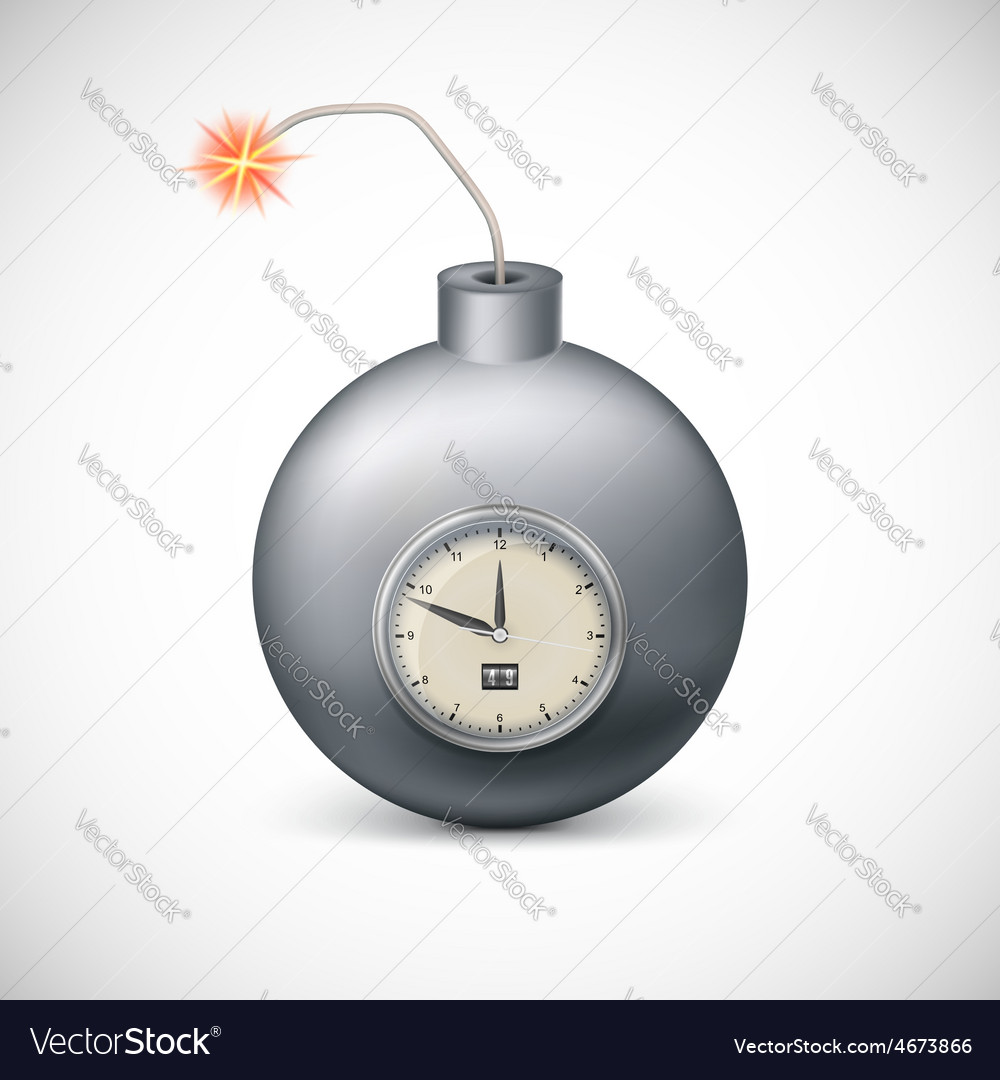 Dynamite with clock vector | Price: 1 Credit (USD $1)