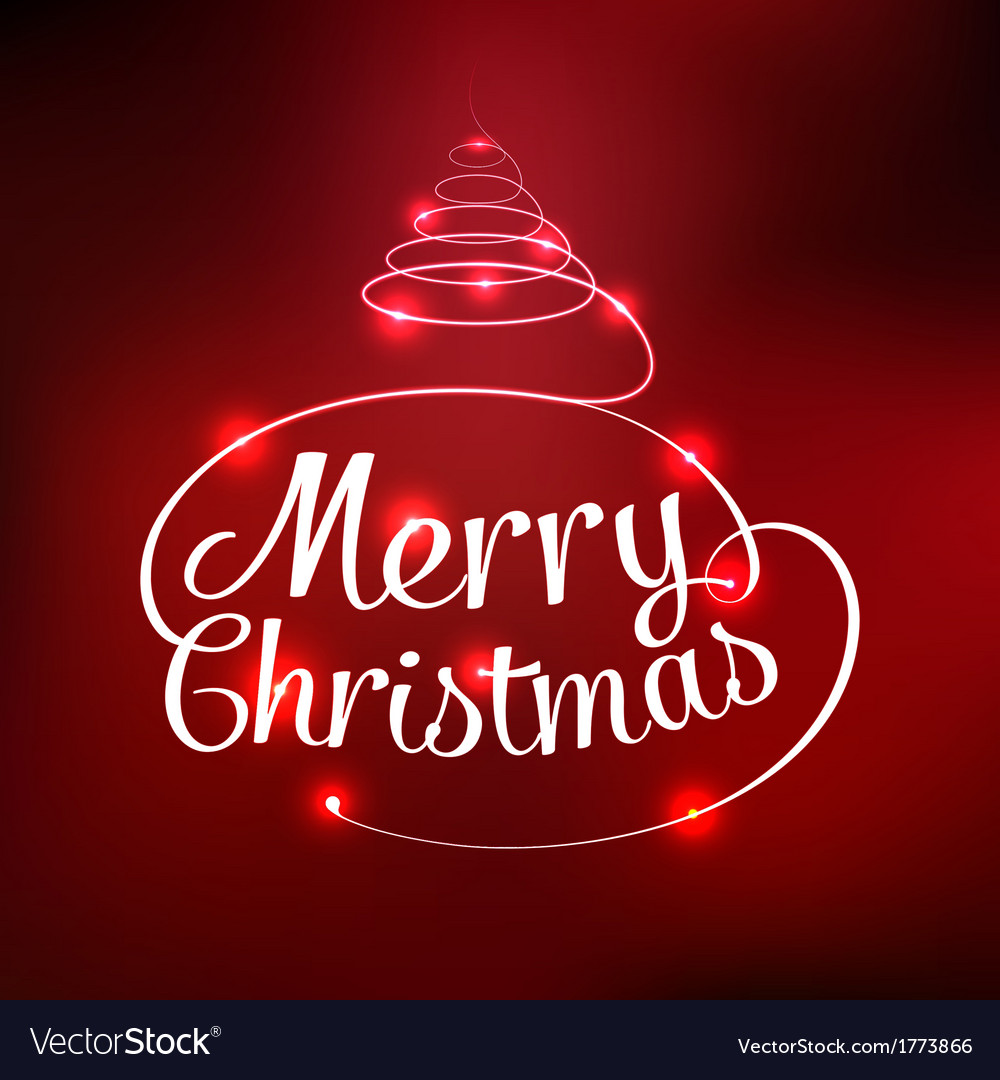 Glowing merry christmas typographic card vector | Price: 1 Credit (USD $1)