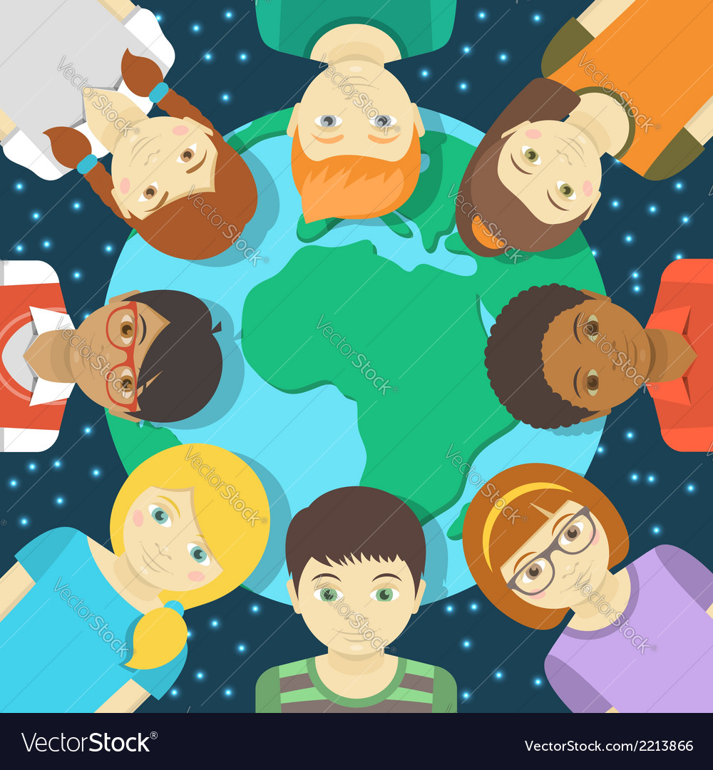 Kids of the world vector | Price: 1 Credit (USD $1)