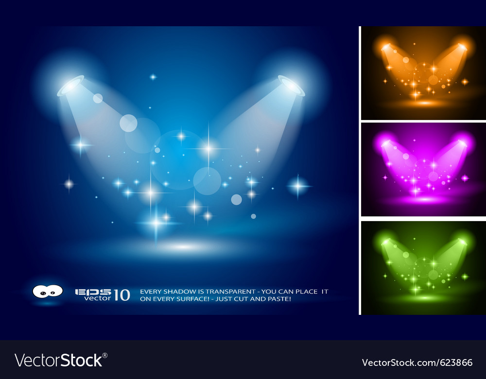 Magic spotlights vector | Price: 1 Credit (USD $1)