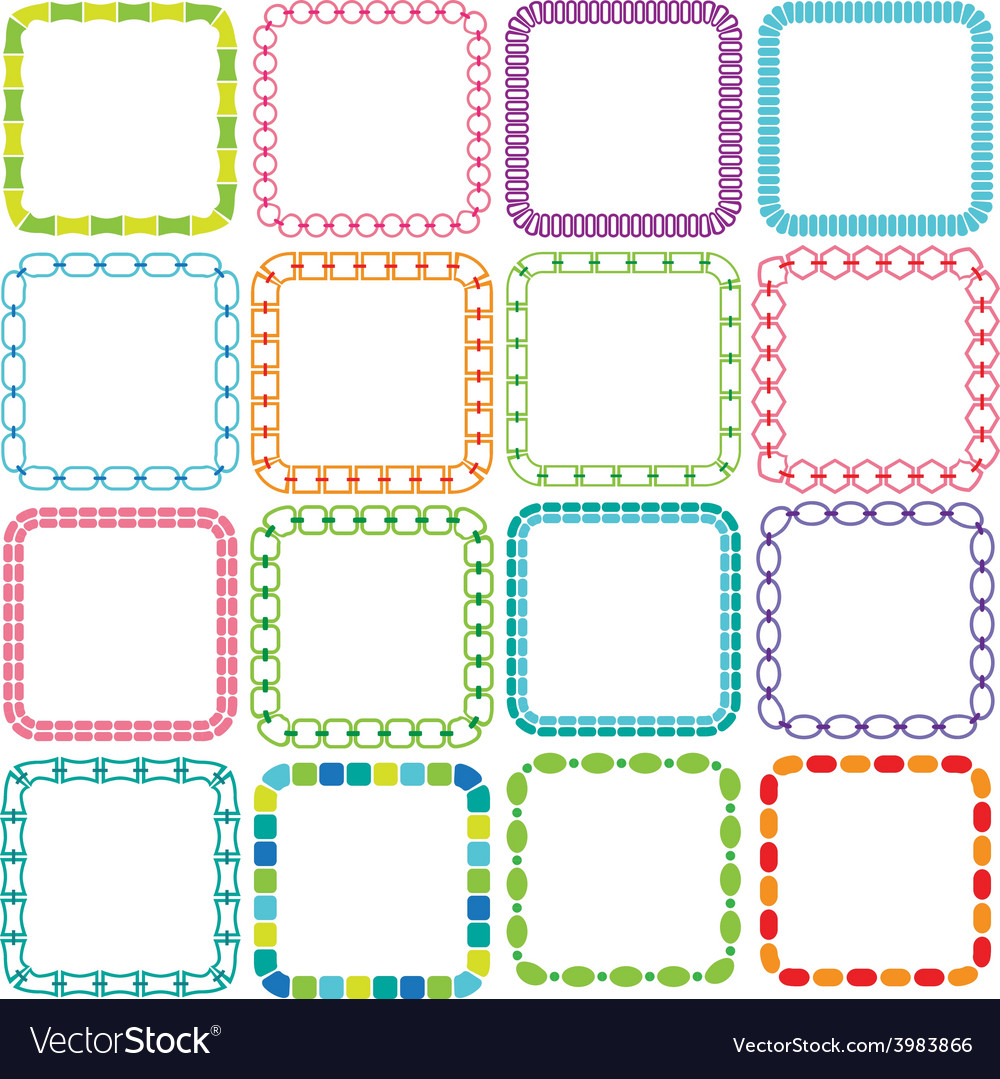 Mod square frames vector | Price: 1 Credit (USD $1)