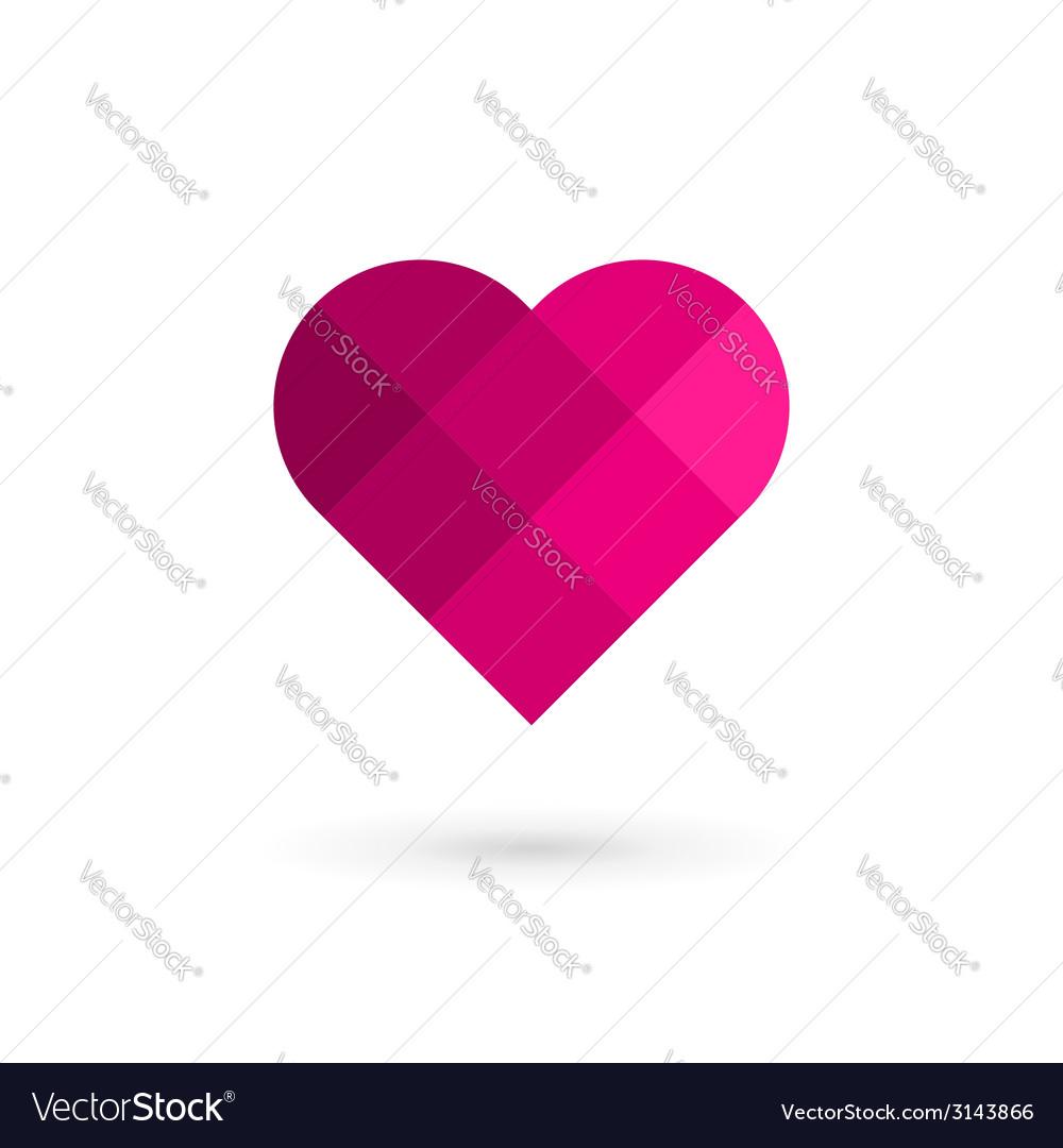 Mosaic heart symbol logo icon vector | Price: 1 Credit (USD $1)