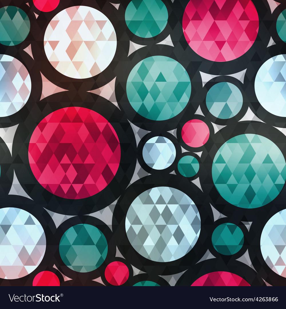 Retro circle seamless texture with diamond effect vector | Price: 1 Credit (USD $1)
