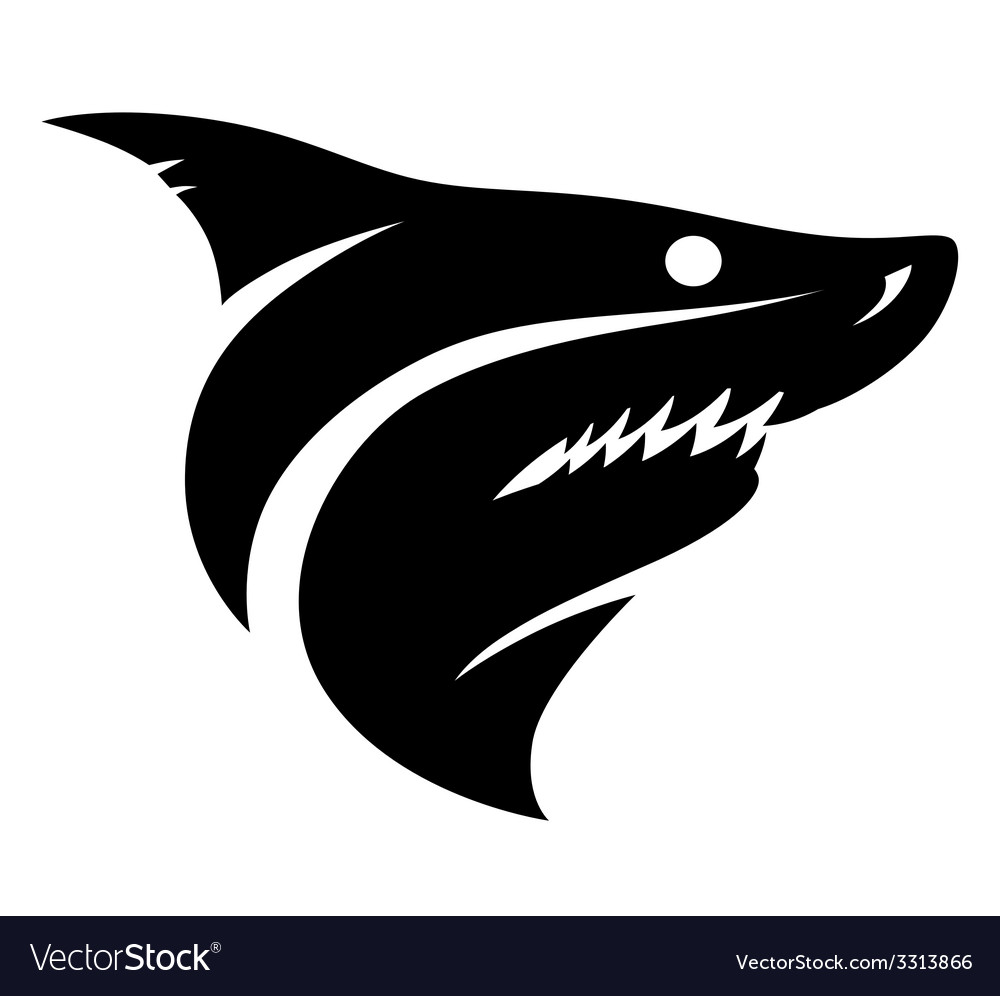 Shark head sign vector | Price: 1 Credit (USD $1)