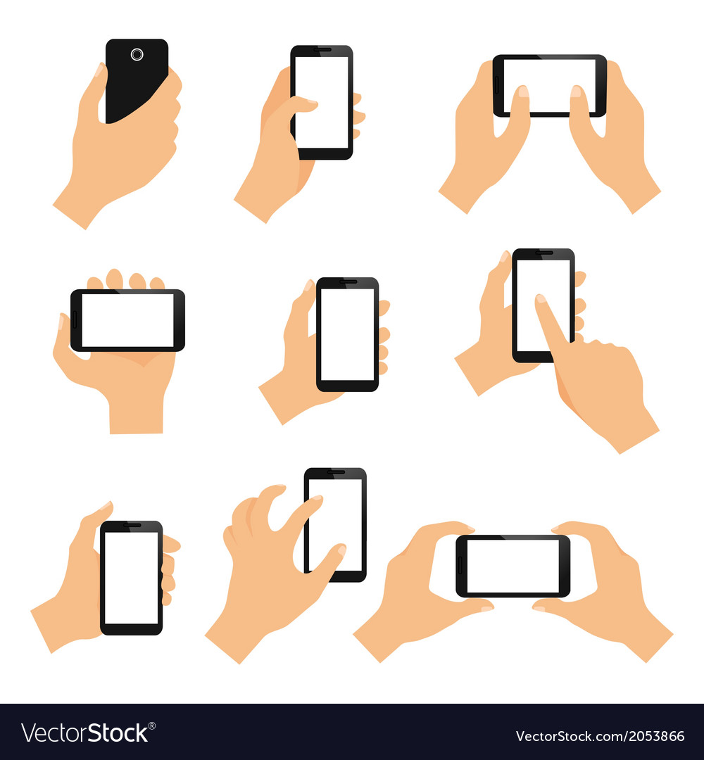 Touch screen hand gestures vector | Price: 1 Credit (USD $1)