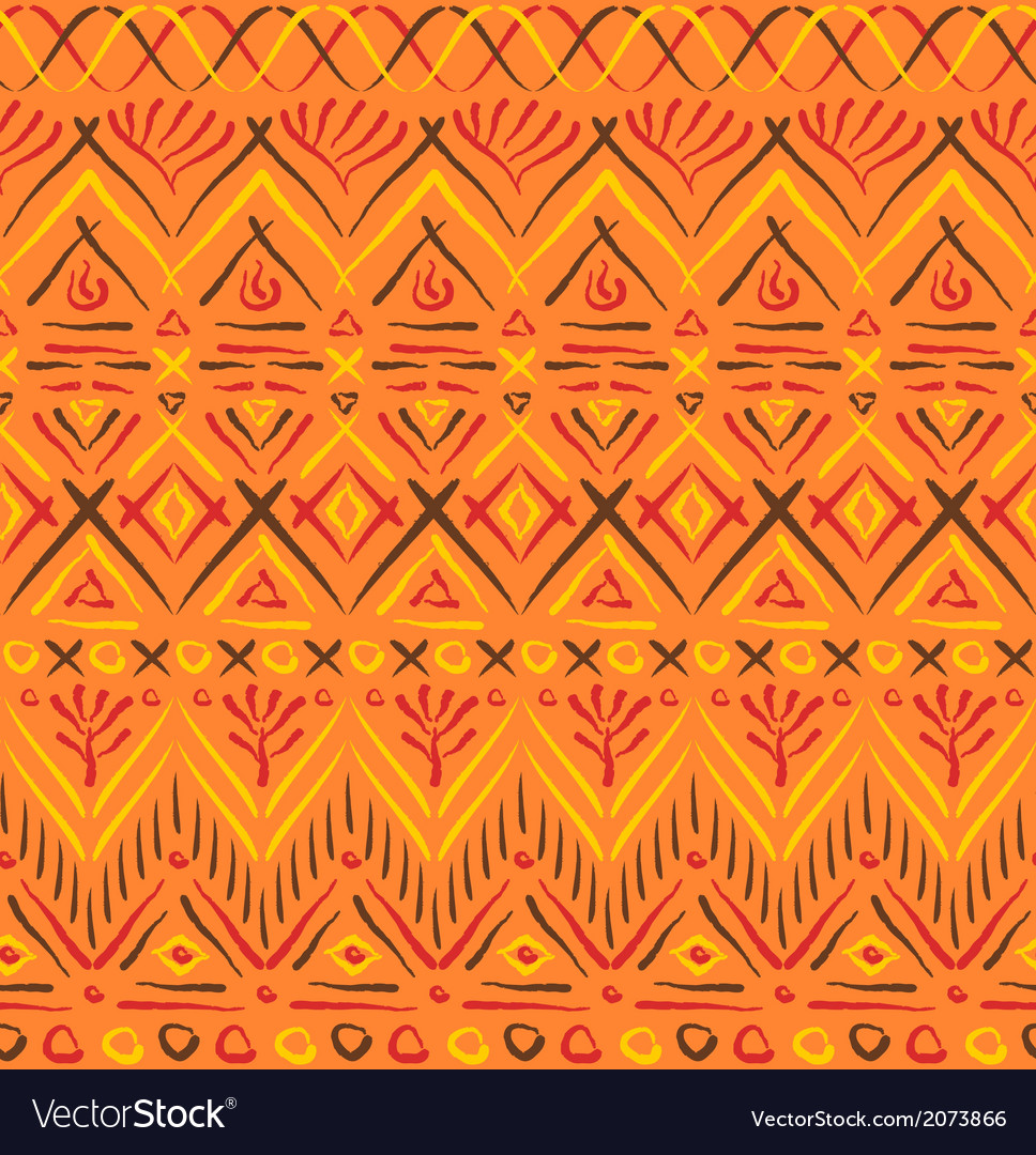 Tribal ethnic seamless pattern vector | Price: 1 Credit (USD $1)