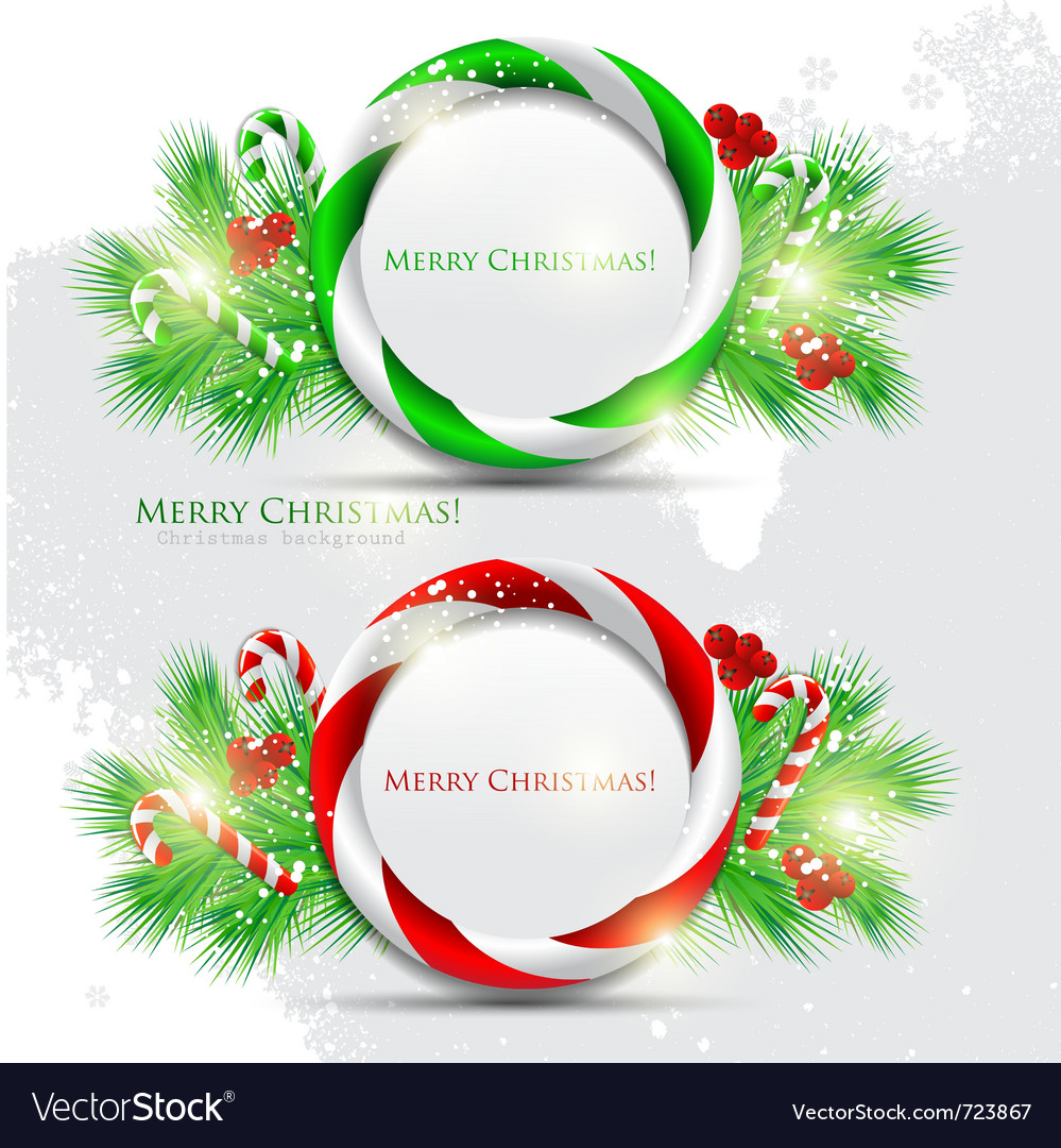 Abstract glossy speech bubble with christmas candy vector | Price: 1 Credit (USD $1)