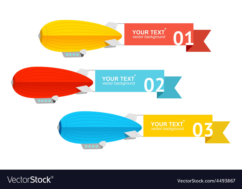 Airship card for your text vector | Price: 1 Credit (USD $1)